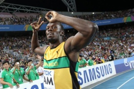 Bolt leads Jamaica to record win