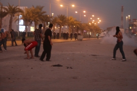 Police clash with mourners in Bahrain