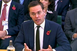 James Murdoch grilled over phone hacking
