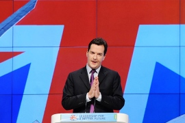 George Osborne's austerity strategy is widely seen as a bid to set the agenda for the 2015 elections [EPA]