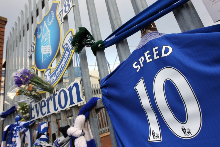 In 1996 Speed joined Everton, eventually becoming captain, notching up 65 appearances and scoring over 17 goals [GALLO/GETTY]