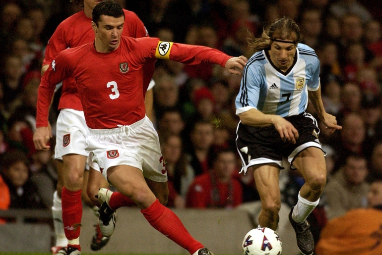 In 2002 Speed debuted for Wales as a 20-year-old in a 1-0 friendly over Costa Rica. He went on to make 85 caps for his country before retiring from international duty in 2004 [GALLO/GETTY]