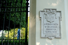 Ireland closes Vatican embassy to save funds