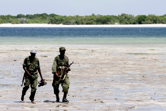 Somali government troops on patrol