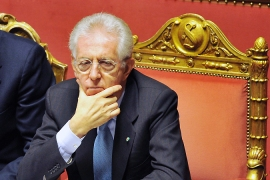 Mario Monti replaced Silvio Berlusconi carrying a reputation of being an apolitical technocrat [AFP]