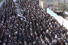 Mass protests in Homs as Arab monitors visit