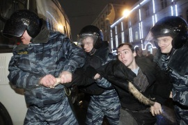 Arrests in Russia after anti-Putin rally