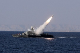 Iran test-fires missiles in the Gulf