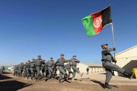 The Afghanistan security forces spend 12 times more than the country's entire income [AFP]