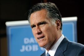 GOP probable Mitt Romney comes across as a 'flip-flopper', which should help Obama win the election [GALLO/GETTY]
