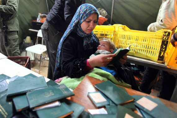 Refugees often have their passports confiscated, making citizenship verification difficult [EPA]