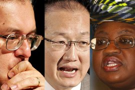 Three in running for World Bank job