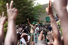 Several thousand Malians protested in Bamako support of the coup.