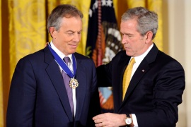 The Extradition Act 2003, signed by former British Prime Minister Tony Blair and President George W Bush, was designed and pushed through Parliament after 9/11 [EPA]