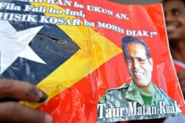 Preliminary poll results suggest Ruak is set to become East Timor's next president [AFP]