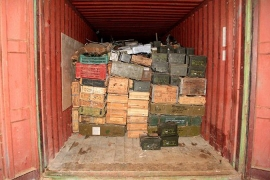 The Lebanese army in April seized crates of ammunition on vessel originating from Libya and heading to Syria [AFP]