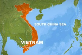 Sailors had contacted Vietnam for help earlier on Thursday when the ship began to list in rough seas [Al Jazeera]