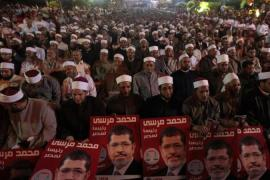 The Muslim Brotherhood, armed with popular legitimacy, say they will not negotiate their key demands [Reuters]