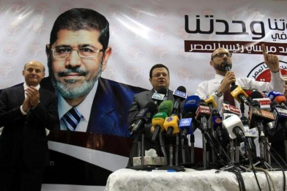 The Muslim Brotherhood's Mohammed Morsi became Egypt's first freely elected president [EPA]