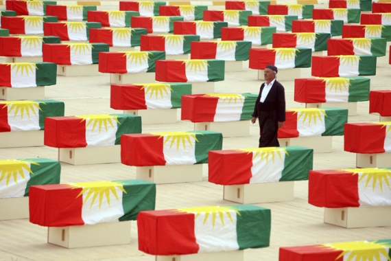 An estimated 500,000 Iraqis, many of them Kurds, lie in unmarked graves, but identifying them is a difficult task [Reuters]