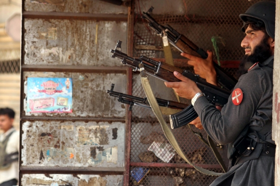 The police operation turned Lyari into a virtual war zone, and killed mostly civilians, residents told Al Jazeera [EPA]
