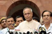 Finance Minister Pranab Mukherjee is set to become India's 13th president [EPA]
