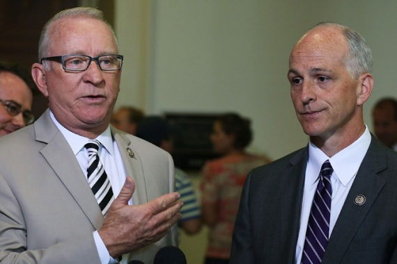 House Armed Services Chairman Buck McKeon, left, does not believe the Pentagon is behind the leaks [AFP]