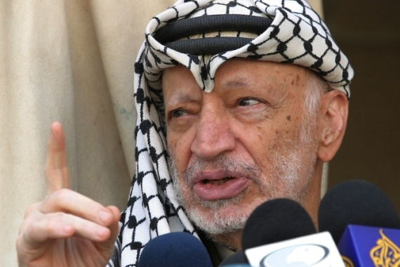 The decision to re-examine Arafat's death came after the discovery of a radioactive isotope on his clothes [EPA]