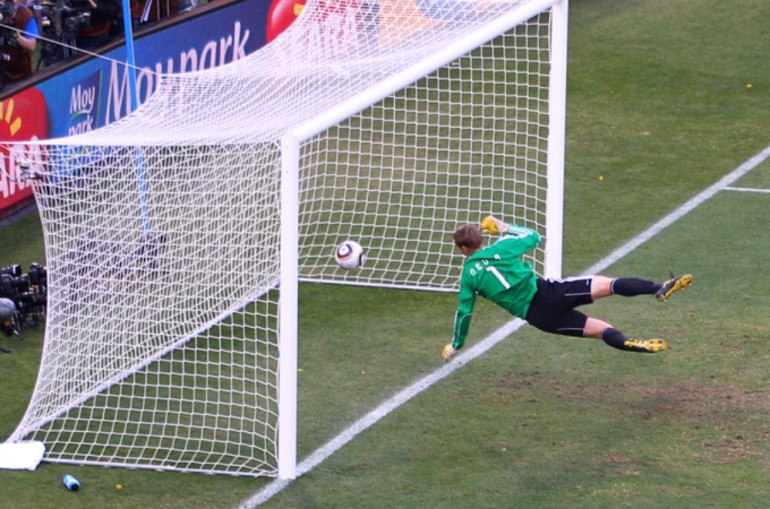 England were trailing Germany 2-1 at the World Cup 2010 when a Frank Lampard shot clearly bounced over the line, but was not given. Germany won 4-1 but the result prompted FIFA boss Sepp Blatter to reopen the debate on goal-line technology.