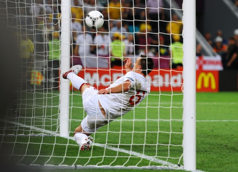 Luck finally went England's way in Euro 2012. Ukraine's Marko Devic looked to have scored an equaliser, with the ball clearly crossing the line before it was hooked clear by John Terry.