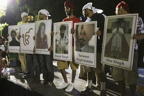 An army veteran opened fire inside a Sikh temple in Wisconsin, killing six people, in August 2012 [Reuters]