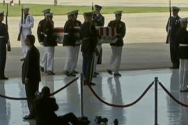 Bodies of US staff slain in Libya flown home