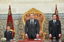 Morocco's King Mohammed VI (centre) should act to help the beleaguered people of the Rif, writes scholars [EPA]