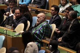 UN leader Ban also expressed 'profound concern' at continuing violence in Afghanistan [Reuters]