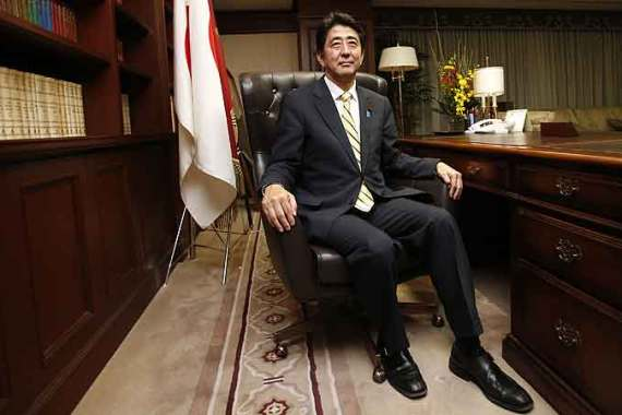 Abe has pledged to get the LDP back into government, three years after it lost power to the DPJ [AFP]