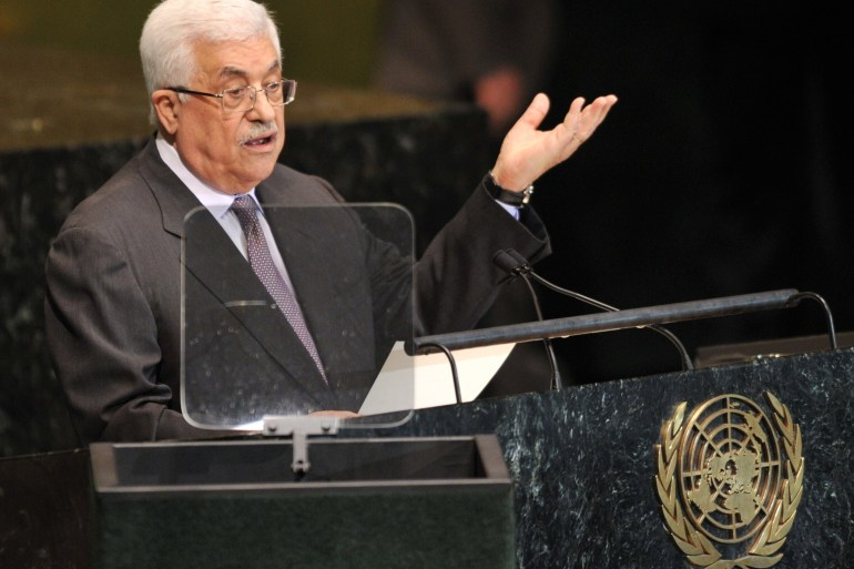"Abbas warned the 193-nation assembly that Israel was ""promising the Palestinian people a new catastrophe"" [AFP]"