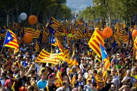 Between 600,000 and 1.5 million people recently took part in a pro-independence rally in Barcelona [Getty Images]