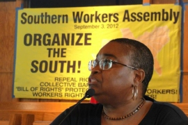 The Southern Workers Assembly was meant to draw attention to anti-union laws in many US states [Al Jazeera]