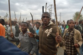 More than a thousand miners took to the streets of Marikana to show their discontent.