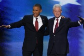 When Barack Obama assumed office in 2008, he faced a similar conundrum as Bill Clinton - the Bush Republicans had run up massive deficits and debt [Reuters]