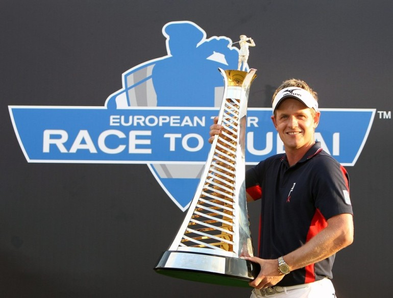 In 2011, England(***)s Luke Donald won both the US PGA Tour money list and the Race to Dubai. His closest rival, Rory McIlroy, handed the European prize to Donald when he failed to win the season finale, the Dubai World Championship.