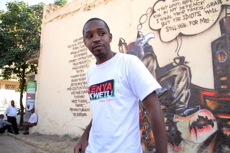 Award-winning photojournalist-turned-political activist Boniface Mwangi is one of the key leaders of the movement and the brain behind these murals. He aims to bring about a (***)ballot revolution(***) by persuading Kenyans to vote out politicians suspected of corruption and exploitation.