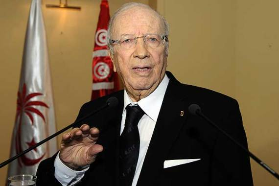 The slain political activist belong to the Call of Tunisia party led by Essebsi, a former interim PM [AFP]