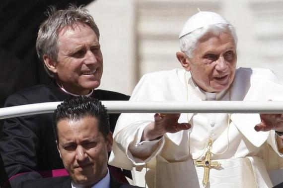Paolo Gabriele, at bottom left, helped the pope dress and rode in his vehicle with him [AP]
