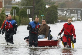 The extremity of Sandy was stunning enough that global warming was suddenly forced out of the closet [Reuters]