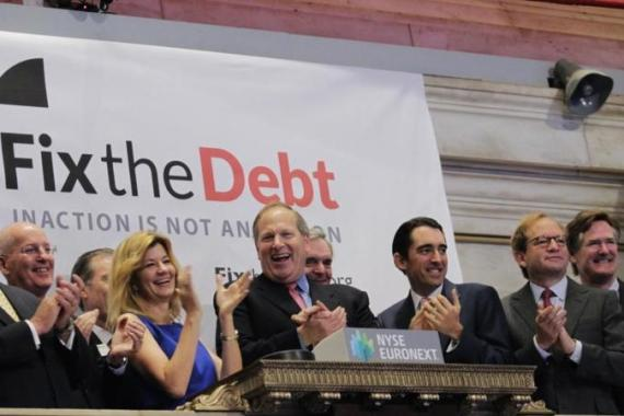 The Fix the Debt campaign comprised of over 80 powerful CEOs is attempting to cut corporate tax rates by cutting social programme spending [AP]