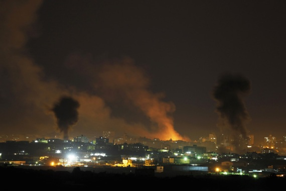 Reports of the Israeli air raids on northern Gaza began at around 10pm local time (7pm GMT) [File: Reuters]