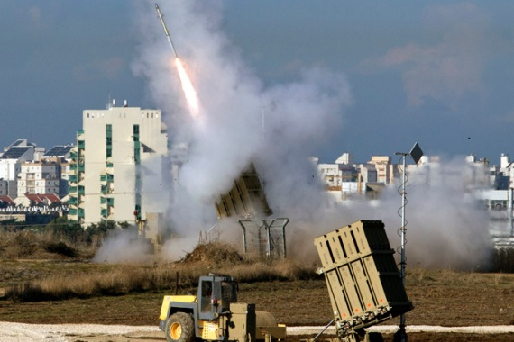 "Israel is at the forefront of high-tech weapons development, such as its ""Iron Dome"" missile defence system [EPA]"
