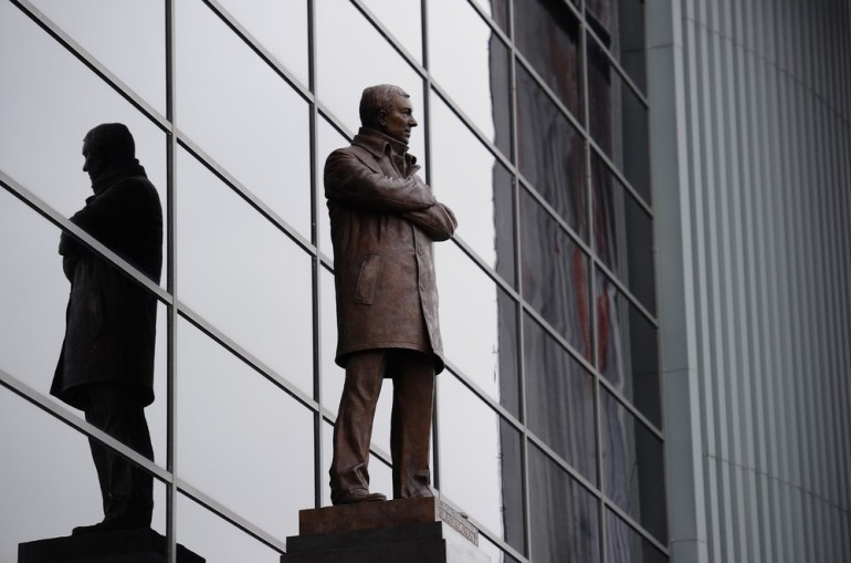 Manchester United manager Alex Ferguson was