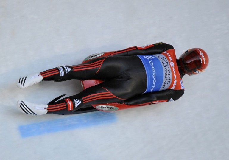 Olympic luge champion Felix Loch led a German